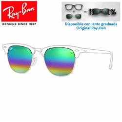 Lentes de repuesto Ray-Ban New ClubMaster Lente Green Rainbow Flash (RB3016-221C3E)