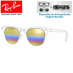 Lentes de repuesto Ray-Ban New ClubMaster Lente Gold Rainbow Flash (RB3016-1223C4)