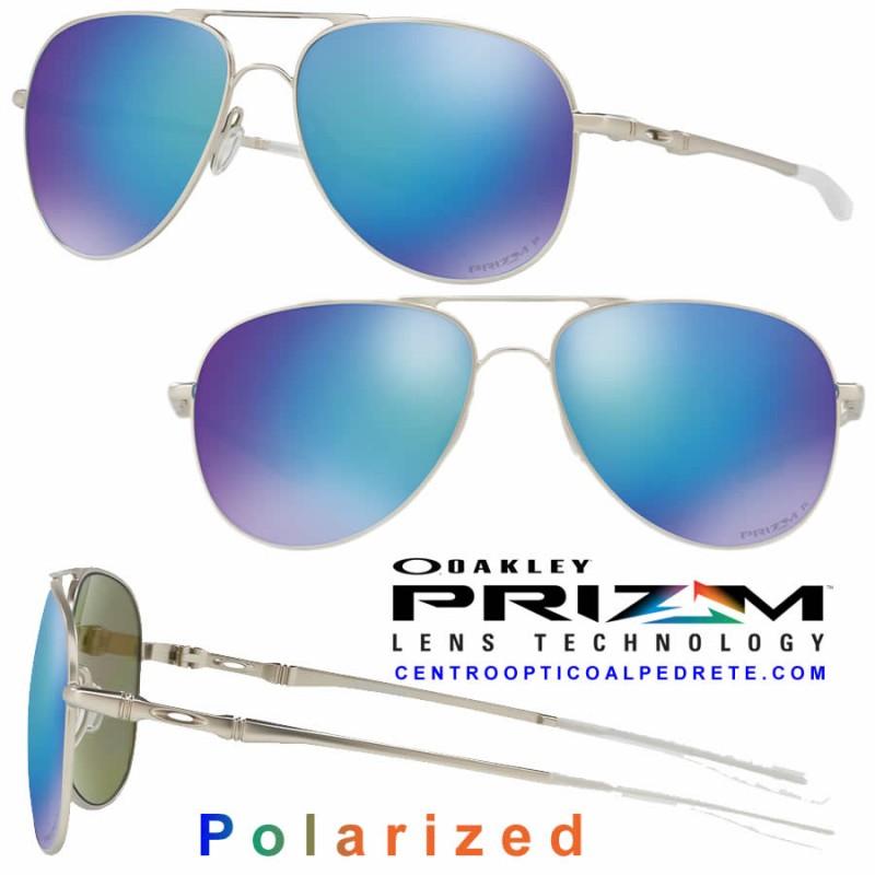 2a4bfd8001 Oakley Sunglasses Elmont Satin Chrome   Prizm Sapphire Polarized ...