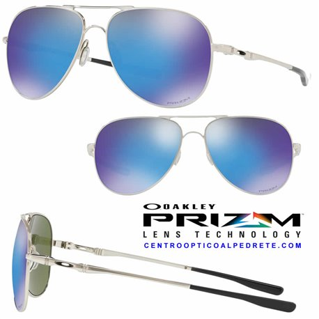 e6c4527406 Oakley Sunglasses Elmont Polished Chrome   Prizm Sapphire (OO4119-10)