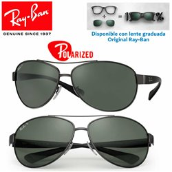 Ray-Ban RB3386 GunMetal / Green Polarized (RB3386-004/9A)
