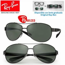 Ray-Ban RB3386 GunMetal / Green Polarized (RB3386-004/9A)