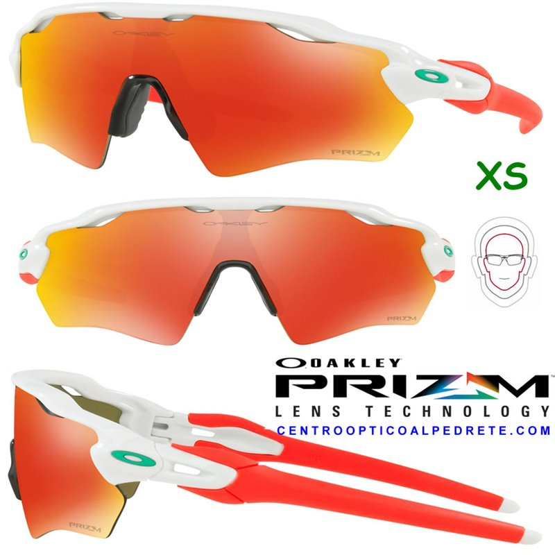 6877dff738 Sunglasses Oakley Radar EV XS Path Polished White   Prizm Ruby (OJ9001-11)