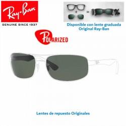 Lentes de repuesto Ray-Ban RB3445 Lente Dark Green Polarized (RB3445-002/58)