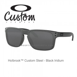 Holbrook Custom Steel / Black Iridium (OO9102-7097)