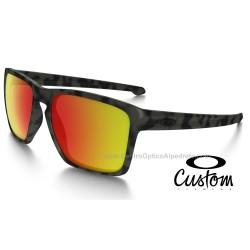 Sliver xl Custom Matte Green Camo / Ruby Iridium (OO9341-7144)