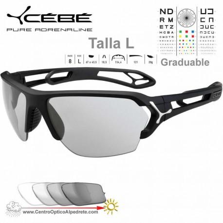 Cebe S TRACK Large CBSTL7 Matte Black Silver / Vario Grey AF