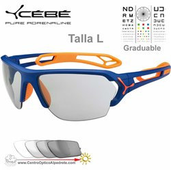 Cebe S TRACK Large CBSTL9 Matte Blue Orange / Zone Vario Grey + Clear