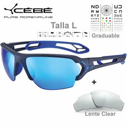 Cebe S TRACK Large CBSTL16 Matte Ciment Blue / Grey Blue AF + Clear
