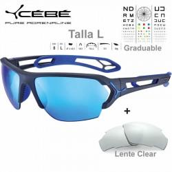 Cebe S TRACK Large CBSTL16 Matte Ciment Blue / Grey Blue AF + Clear