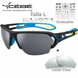 Cebe S TRACK Large CBSTL13 Matte Black Blue / Grey AF Silver+ Clear