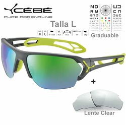 Cebe S Track Large CBS058 Matte Grey Lime / Zone Grey Green AF + Ckear