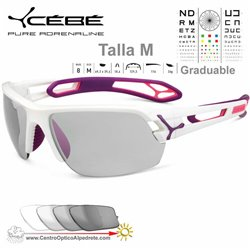 Cebe S TRACK Medio CBSTM10 Shiny White Purple / Vario Grey AF