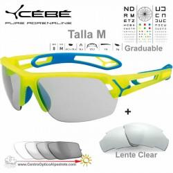 Cebe S TRACK Medio CBSTMPRO Matte Yellow Blue / Vario Grey AF + Clear