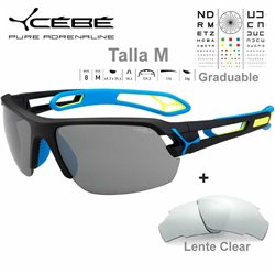 Cebe S TRACK Medio CBSTM14 Matte Black Blue / Zone Grey Silver AF + Clear