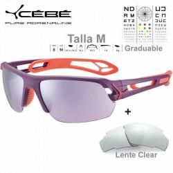 Cebe S TRACK Medio CBSTM15 Matte Purple Salmon / Sensor Rose Silver AF + Clear