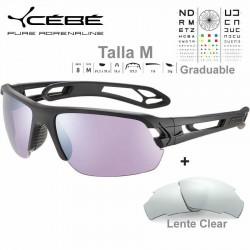 Cebe S TRACK Medio CBS061 Matte Black / Sensor Rose Silver AF + Clear