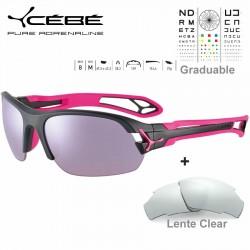 Cebe S PRING 2.0 CBS043 Matte Black Pink / Sensor Rose Silver AF + Clear