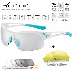 Cebe STRIDE CBSTRIDE3 Matte White Mint / Vario Grey Light Silver + Yellow