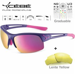 Cebe STRIDE CBSTRIDE4 Matte Purple Pink / Zone Grey Pink + Yellow