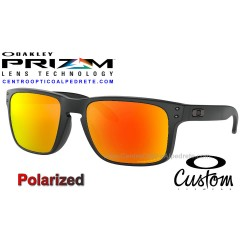 Holbrook Custom Matte Black / Prizm Ruby Polarized (OO9102-7247)