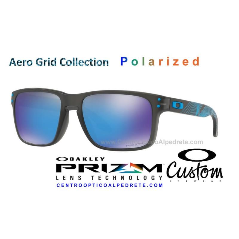 7aa492f1d5 Sunglasses Oakley Holbrook Aero Grid Grey Smoke   Prizm Sapphire ...