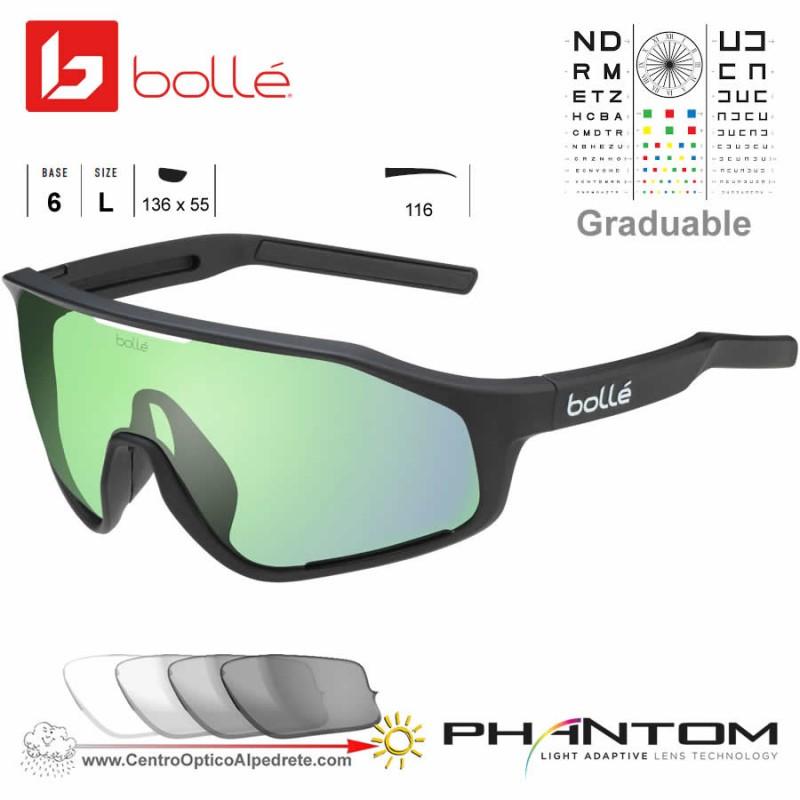 2c6d193b6b Gafas de sol Bolle Shifter Matte Black / Phantom Clear Green (12504)