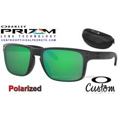 Holbrook Custom Matte Black / Prizm Jade Polarized (OO9102-7265)