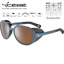 Cebe SUMMIT CBSUM5 Matte Blue Grey Neon Yellow / Zone Brown AF