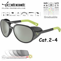 Cebe SUMMIT CBSUM4 Matte Black Lime / Zone Vario Green AF