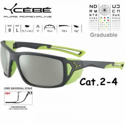 Cebe PROGUIDE CBS028 Matte Grey Green / Zone Vario Green Silver AF