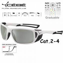 Cebe PROGUIDE CBS028 Matte White Black / Zone Vario Green Silver AF
