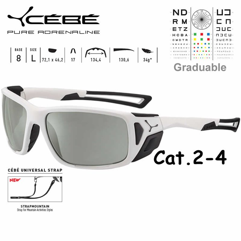 4dafba1bec Cebe PROGUIDE CBPROG6 Matte White Black / Zone Vario Green Silver AF