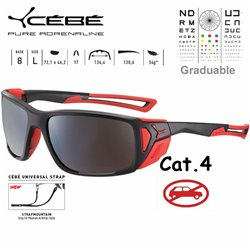 Cebe PROGUIDE CBPROG8 Matte Black Red / Zone Brown Silver AF