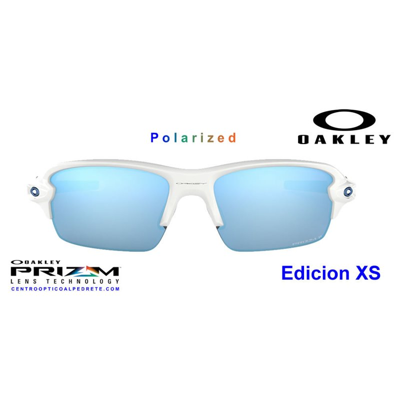 a5d6ed9976 Sunglasses Oakley Flak XS Polished White   Prizm Deep Water ...
