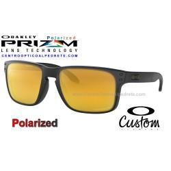 Holbrook Custom Matte Black / Prizm 24K Polarized (OO9102-7324)