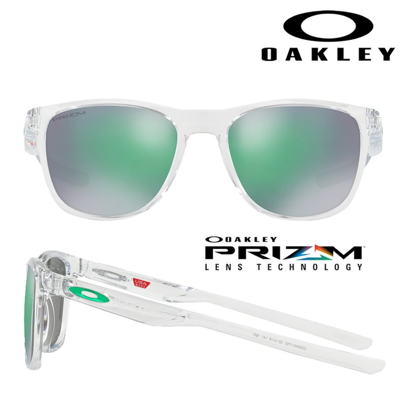 799b164f0d2 Oakley Sunglasses Trillbe X Polished Clear   Prizm Jade (OO9340-17)