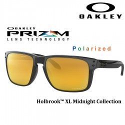 Holbrook XL Polished Black / Prizm 24k Polarized (OO9417-10)