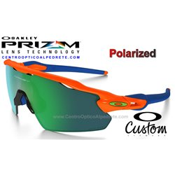 Radar EV Custom Neon Orange Prizm Jade Polarized (OO9211-7348)