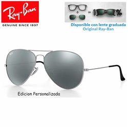 Ray-Ban Aviator Large Matte Silver / Grey Mirror (RB3025/019/7367)