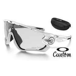 Jawbreaker Custom Polished White / Clear Black Iridium Fotocromatico (OO9290-7370)