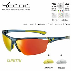 Cebe CINETIK Matt Cristal Blue Yellow / Zone Grey Cat.3 Red
