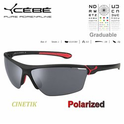 Cébé CINETIK Matt Black Red / Zone Polarized Grey Cat.3 Silver