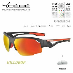 Cébé HILLDROP Matt Grey Shiny Orange / Zone Grey Cat.3 Red