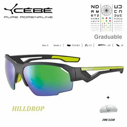 Cébé HILLDROP Matt Grey Shiny Lime / Zone Grey Cat.3 Green