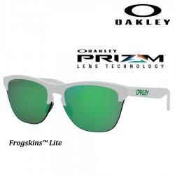 Frogskins Lite Matte White / Prizm Jade