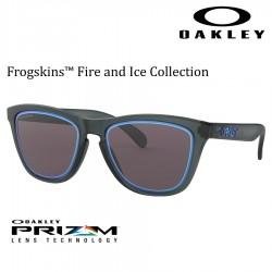 Frogskins Matte Crystal Black / Prizm Grey Sapphire alt Iridium.