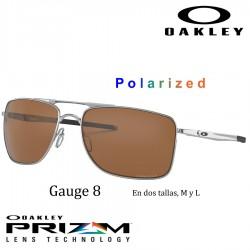 Gauge 8 Matte Black / Prizm Black Polarized (OO4124-02)