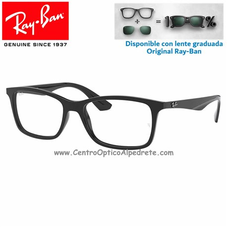 1ca63157a57e1 Gafas para graduado Ray-Ban RX7047-2000 Black