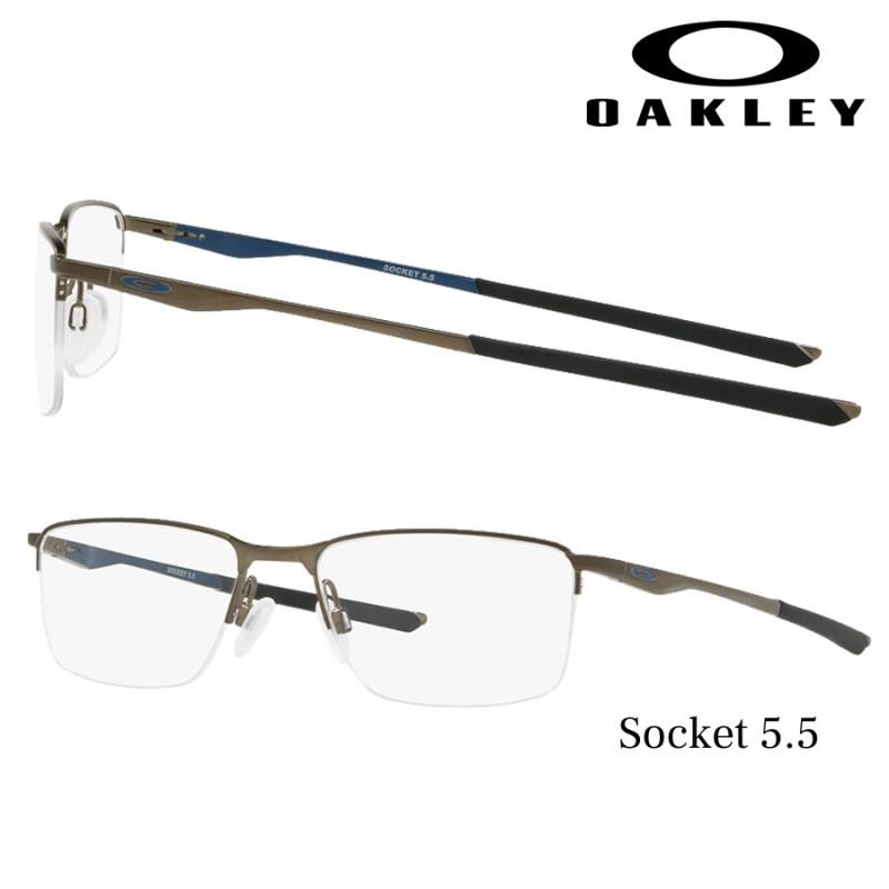 6944e32adc Prescription glasses Oakley Socket 5.5 Satin Pewter/Poseidon Blue